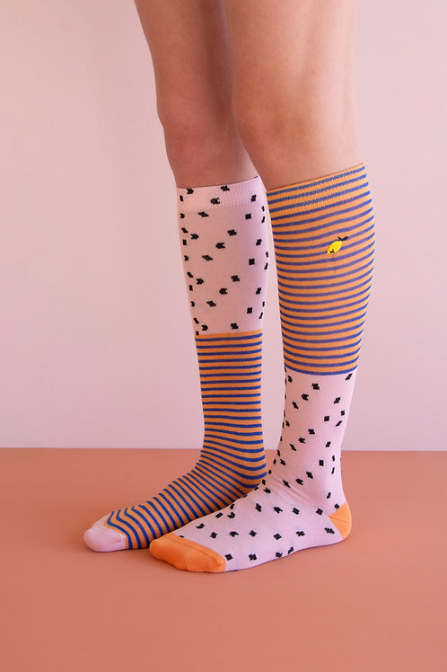 knee high socks | sprinkles | lemonade pink