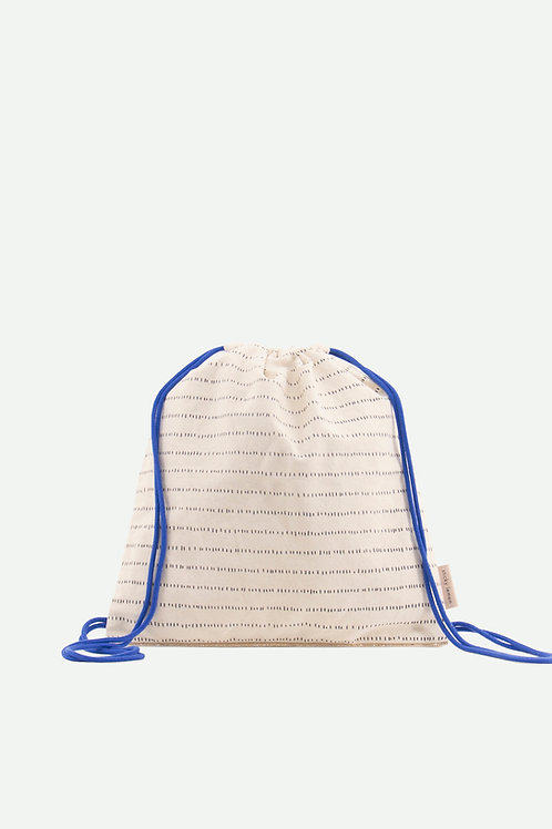 drawstring bag glitter | ink blue