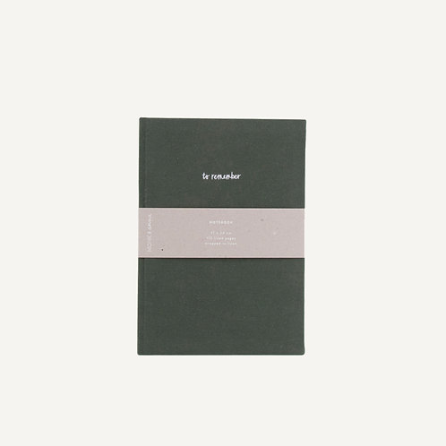 Notebook L • washed linen • pine green