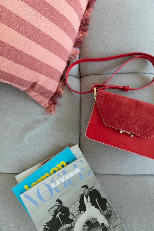 shoulder bag   ton sur ton   poppy red