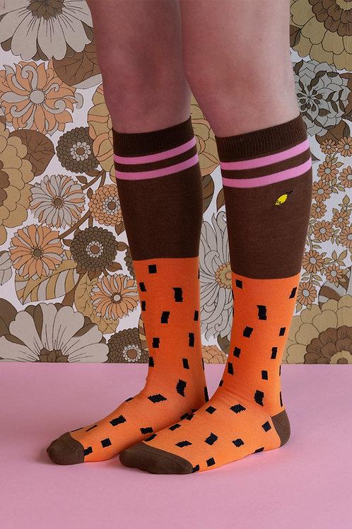 knee high socks | sprinkles | carrot orange + syrup brown