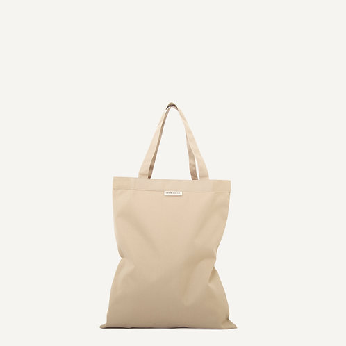 Anna shopper • waxed canvas • sand