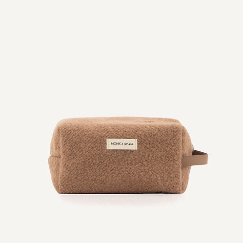 Toiletry bag • wool • cacao