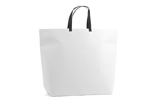Paperbag white + black handles