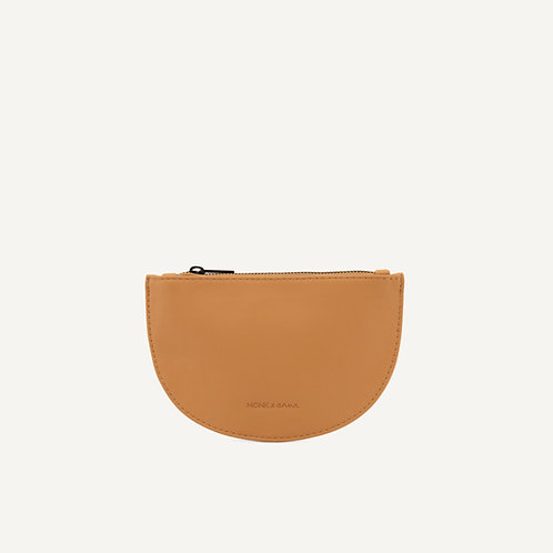 Mondo half moon wallet • vegan leather • cashew