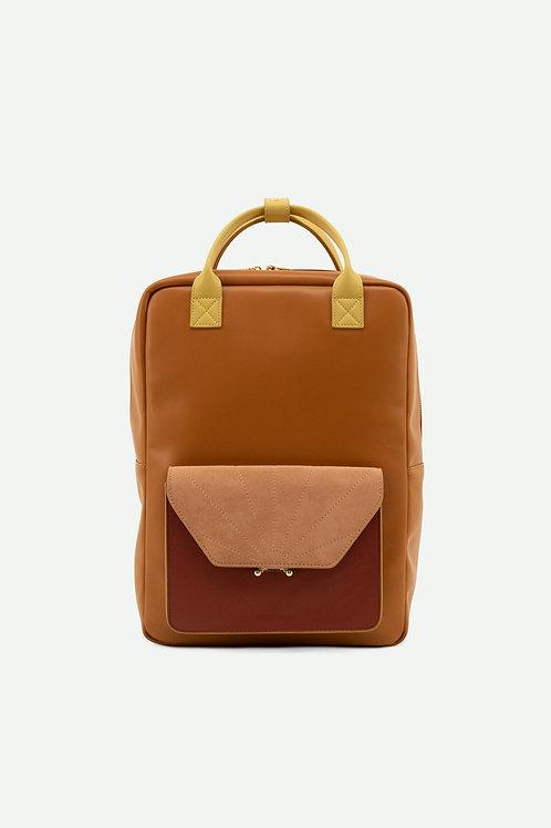 backpack | coloré | sunset orange + brick red + dawn pink