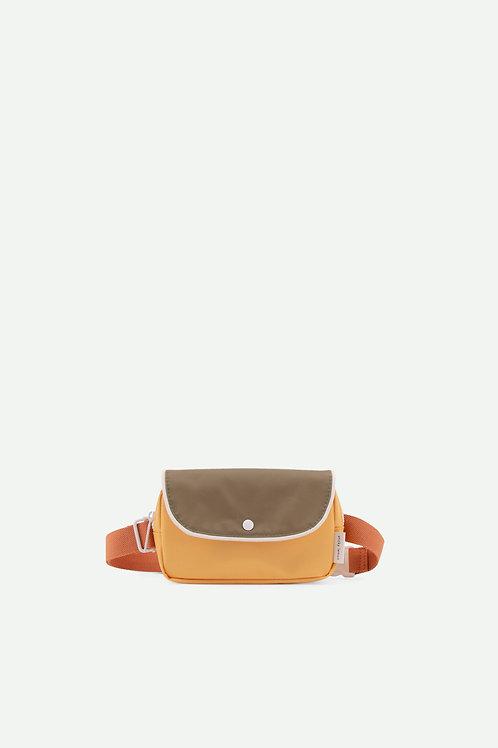 fanny pack wanderer | faded orange + seventies green + retro yellow