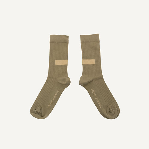 Socks • graphic • matcha + milk