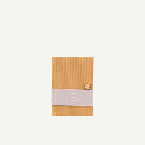 Notebook S • corduroy • caramel fudge