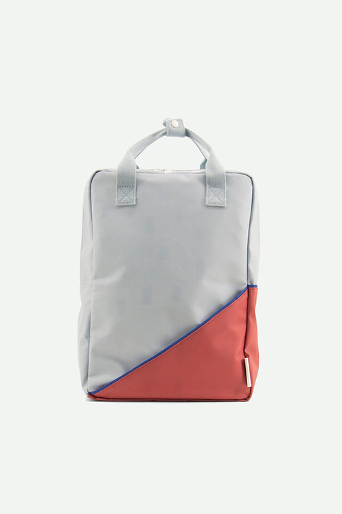 large backpack diagonal   faded red