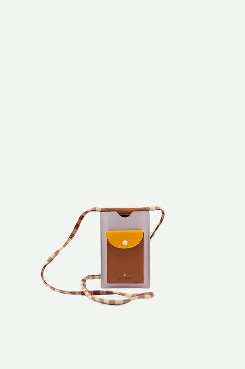 phone pouch xl | chocolate sundae + daisy yellow + mauve lilac