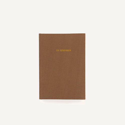 Notebook L • washed linen • cacao