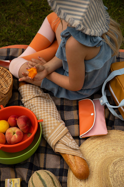 pencil case wanderer | candy pink + carrot orange + sunny yellow