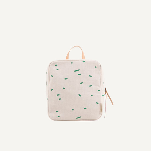 Kodomo backpack mini • emerald green stripes