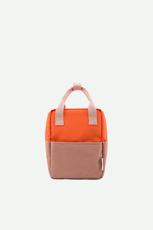 small backpack colourblocking | royal orange + chocolat au lait + pastry pink