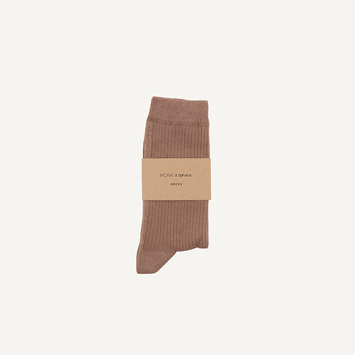 Socks • pink beige + golden glitterline