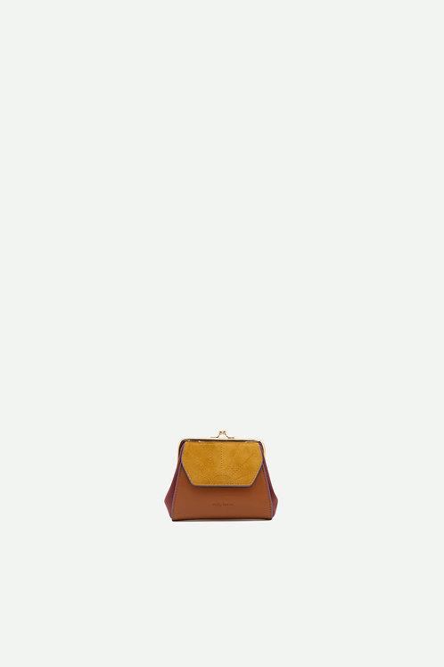 wallet | coloré | sunset orange + honey gold