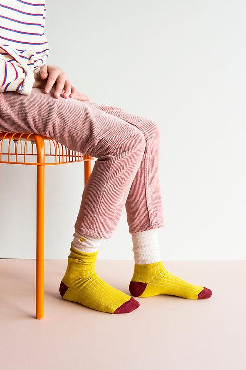 knee high socks   glitter   nude pink + fresh ocher