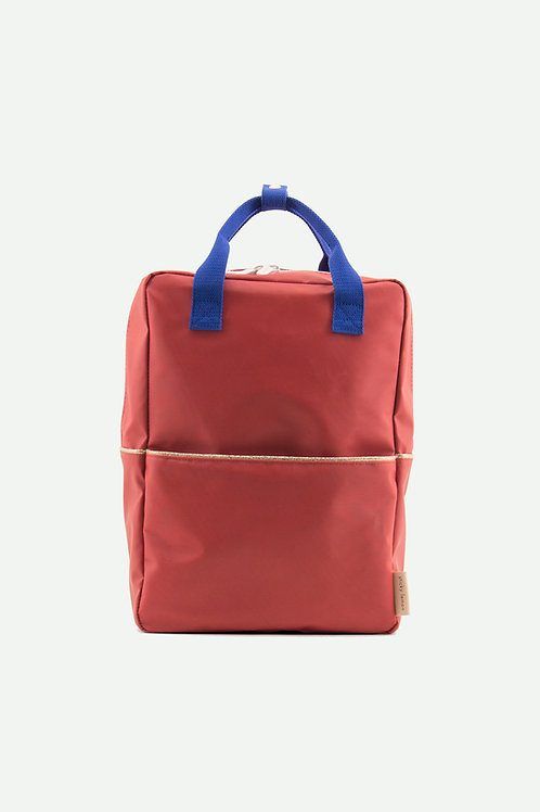 large backpack glitter | faded red