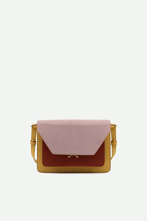 satchel | coloré | biscotti beige + brick red + hazy lilac