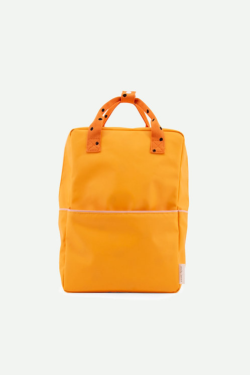 large backpack freckles | sunny yellow + carrot orange + candy pink