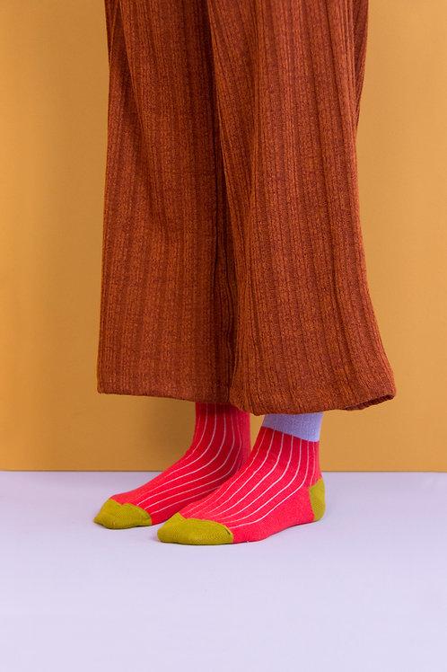 knee high socks | glitter | lavender + sporty red