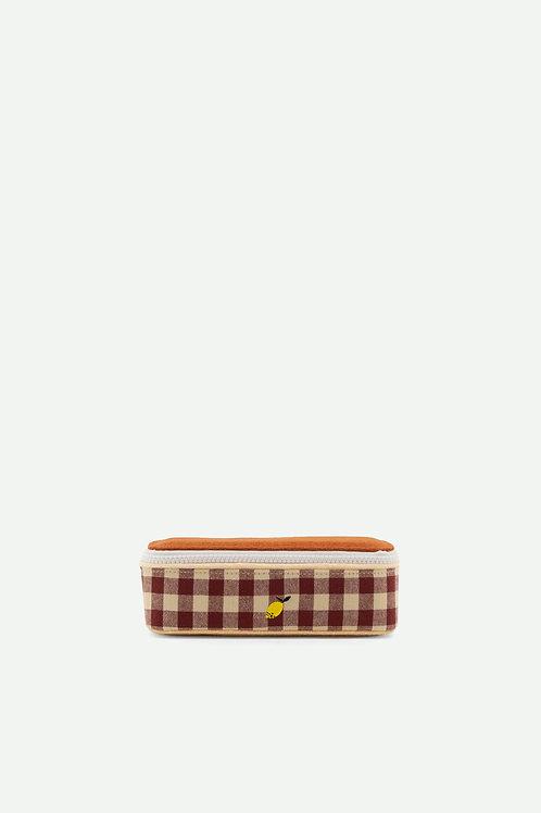 pencil box | gingham | special edition | grape