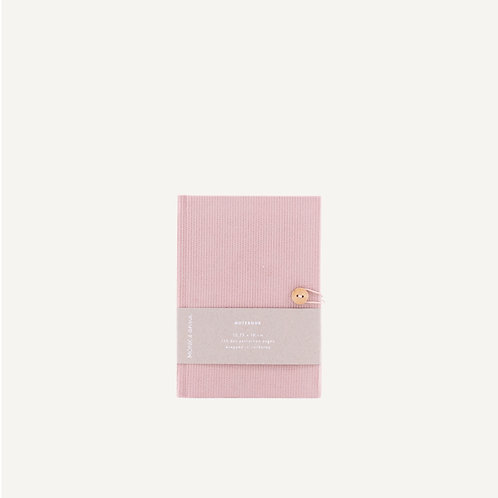 Notebook S • corduroy • soft pink