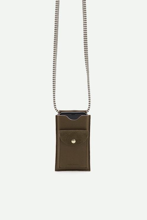 phone pouch | ton sur ton | olive green
