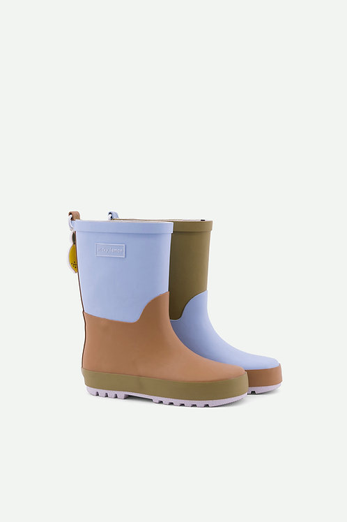 rainboots | three tones - henckle's blue + sugar brown + madame olive