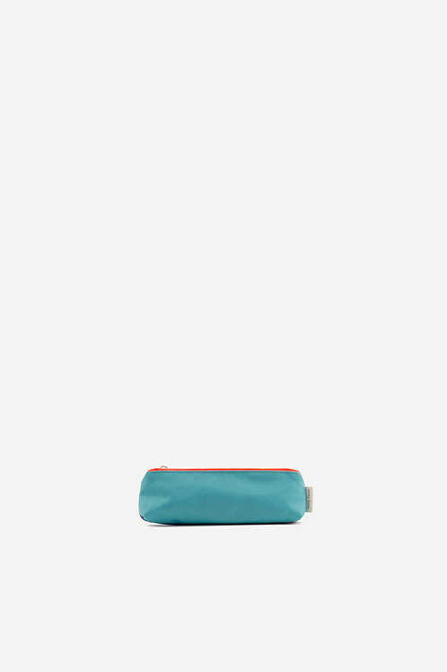small pencil case diagonal | retro mint