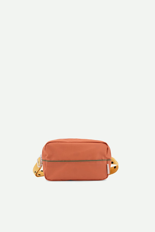 fanny pack large freckles | faded orange + retro yellow + seventies green