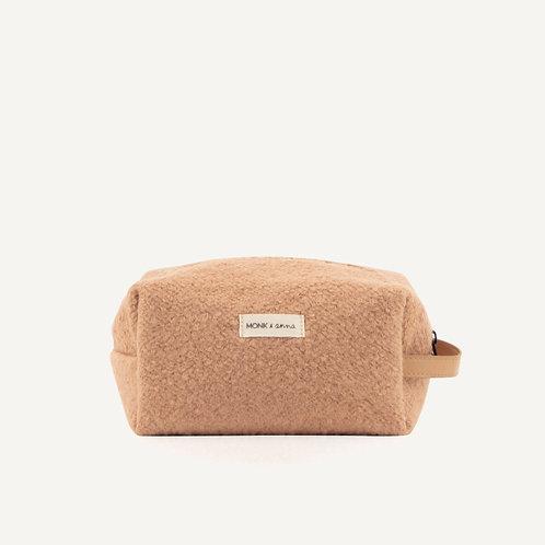 Toiletry bag • wool • cashew