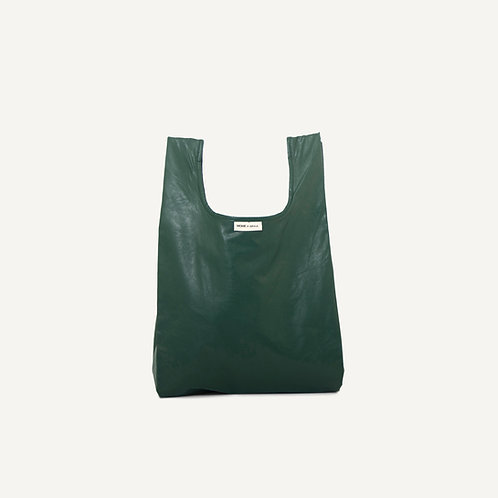 Monk bag • vegan leather • green