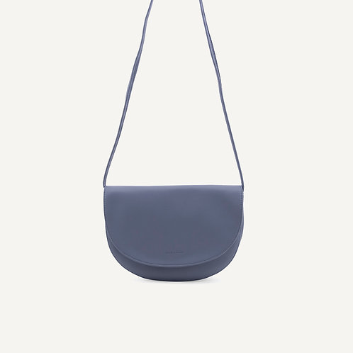 Soma half moon bag • pebbled pu • faded blue