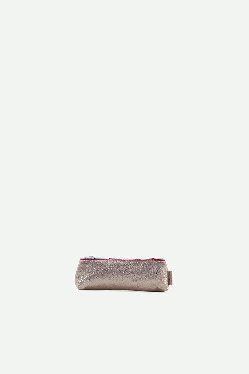 small pencil case glitter | champagne gold