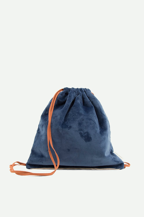 drawstring bag teddy | dark blue