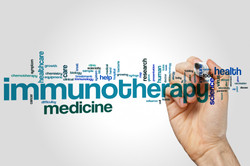 Immunotherapy word cloud concept