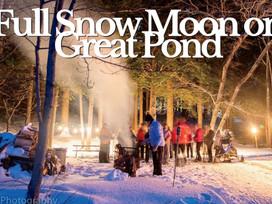Full Snow Moon on Great Pond