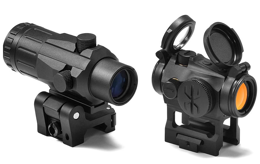 MOA 20mm Lens Tactical Red Dot Sight Scope 1 Inch Riser Mount w