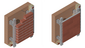 Thermally broken rainscreen application for brick assembly