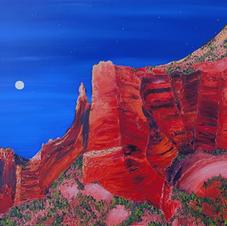 Moon Over Saddle Rock