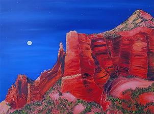 Full Moon Over Saddle Rock