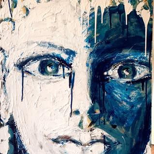 Blue Ambi - Acrylic on Wood