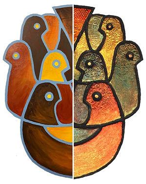 Four Birds Color I_