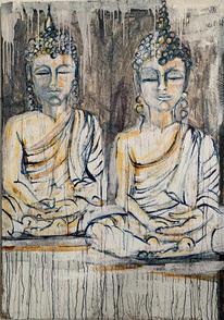 Two Buddhas #1, 2021