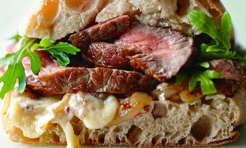 Minute Steak Sandwich on Toasted Ciabatta