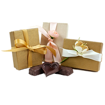 3 Piece Luxury Vegan Artisan Fine Chocolate Assortment Wedding Favor Gift Box