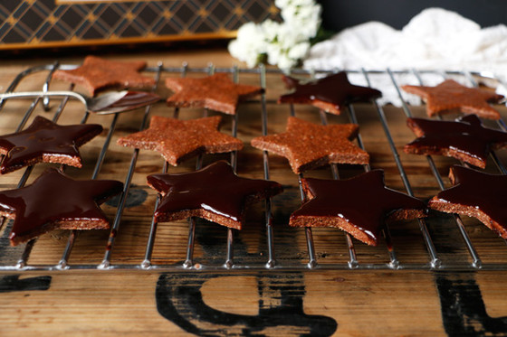 Vegan and Gluten-Free Chocolate Star Cookies