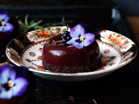 Blackberry Chocolate Savarin (Gluten-Free and Vegan)